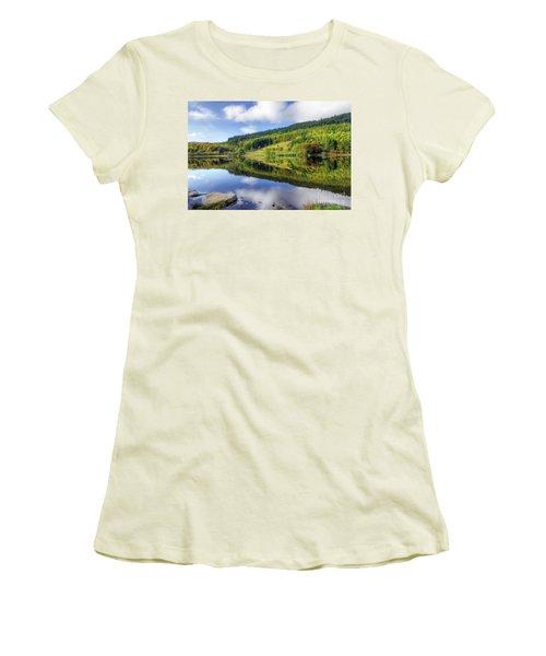 Lake Geirionydd Women's T-Shirt (Junior Cut) by Ian Mitchell