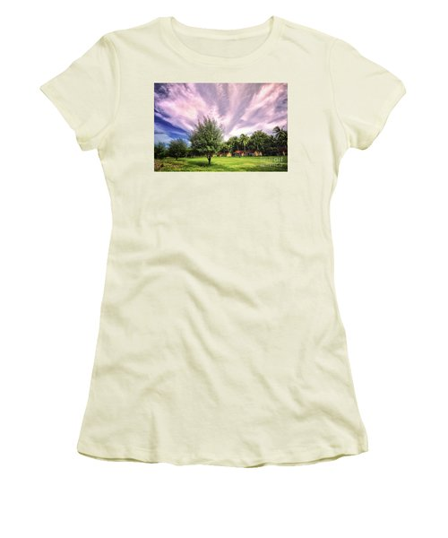 Women's T-Shirt (Junior Cut) featuring the photograph Landscape  by Charuhas Images