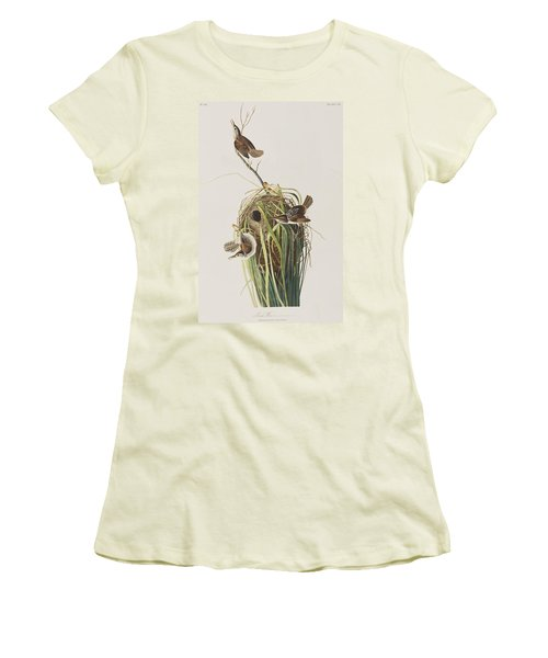Marsh Wren  Women's T-Shirt (Athletic Fit)