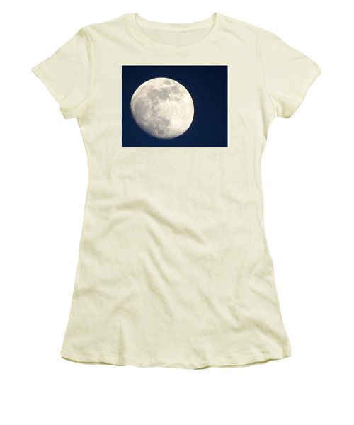 Moon In Blue Women's T-Shirt (Athletic Fit)