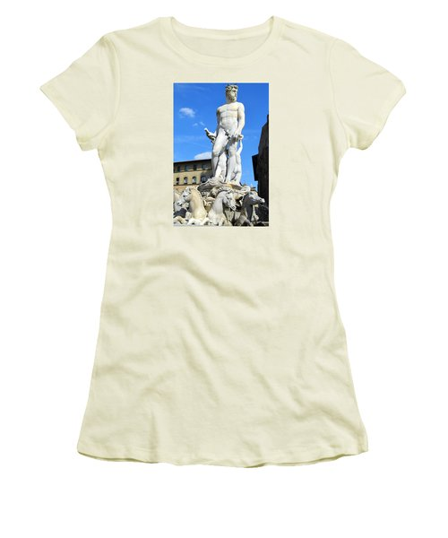 Neptune Fountain Florence Women's T-Shirt (Athletic Fit)