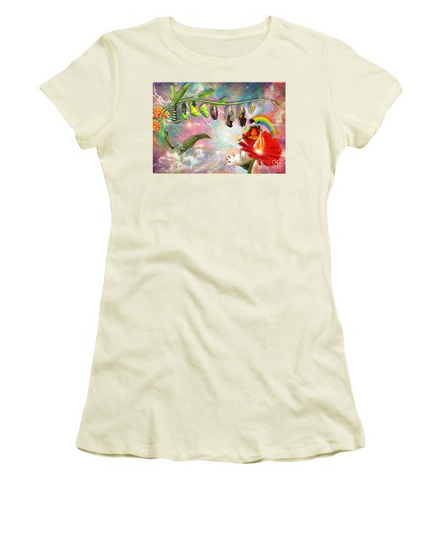 New Life Women's T-Shirt (Junior Cut) by Dolores Develde