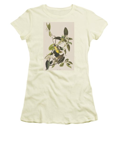 Palm Warbler Women's T-Shirt (Junior Cut) by John James Audubon