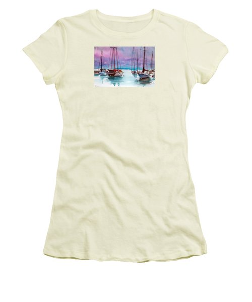 Women's T-Shirt (Junior Cut) featuring the painting Phang-nga Bay by Ed Heaton