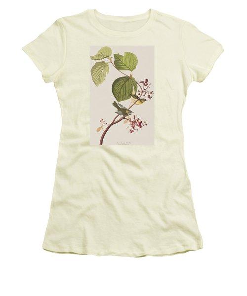 Pine Swamp Warbler Women's T-Shirt (Junior Cut) by John James Audubon