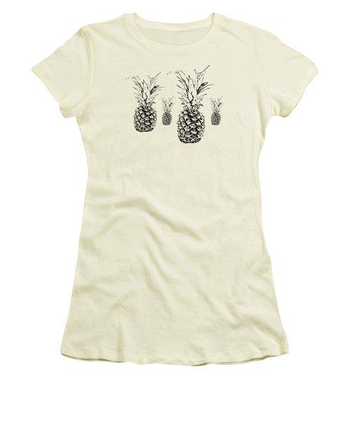 Pineapple Women's T-Shirt (Junior Cut) by Daniel Precht