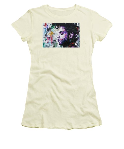 Women's T-Shirt (Junior Cut) featuring the painting Prince by Richard Day