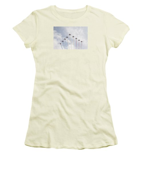Women's T-Shirt (Junior Cut) featuring the photograph Red Arrows by Christopher Rowlands