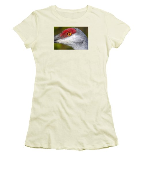 Sand Hill Crane Women's T-Shirt (Athletic Fit)