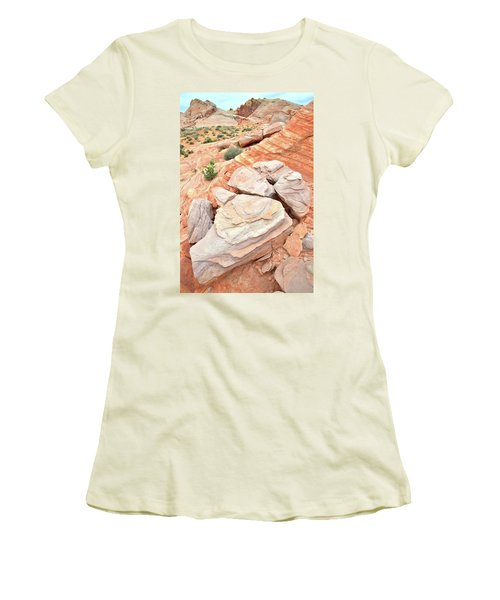 Women's T-Shirt (Junior Cut) featuring the photograph Sandstone Cove In Valley Of Fire by Ray Mathis