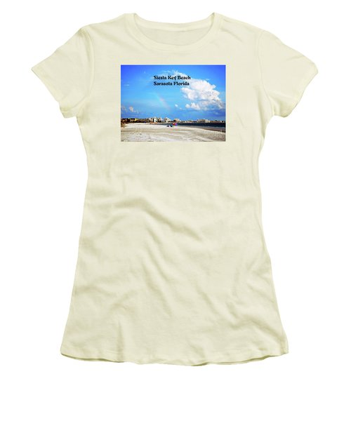 Siesta Beach Women's T-Shirt (Junior Cut) by Gary Wonning