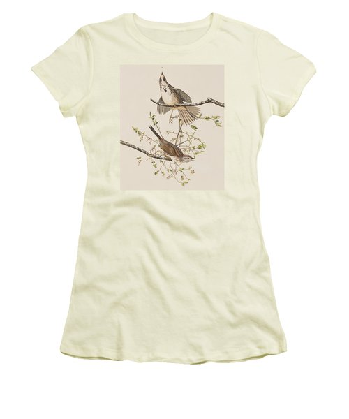 Song Sparrow Women's T-Shirt (Junior Cut) by John James Audubon