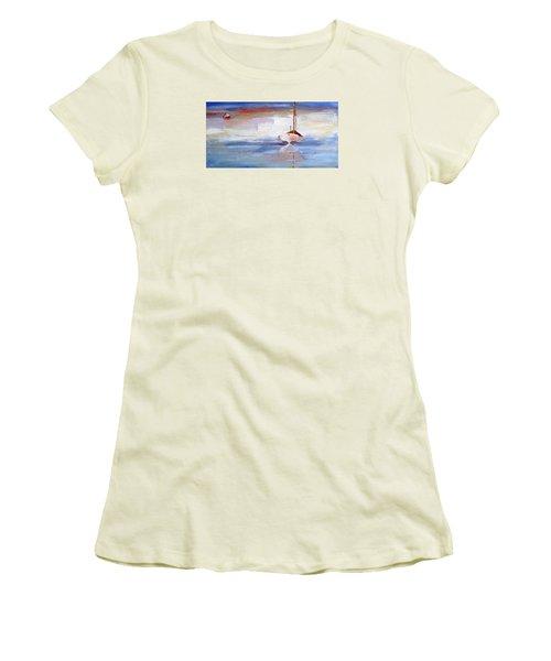 Stillness Women's T-Shirt (Junior Cut) by Trina Teele