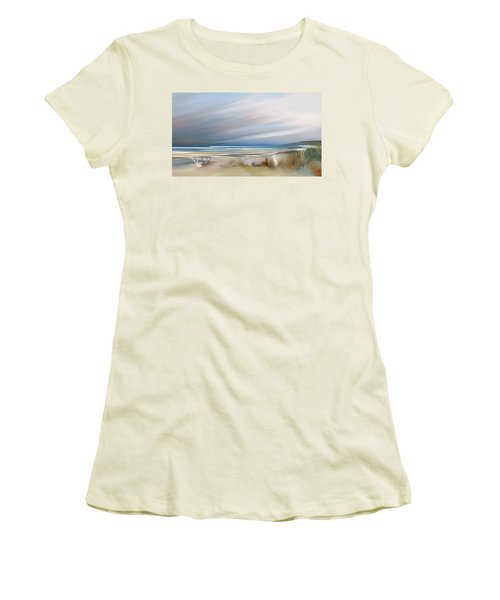 Storm Over Beach Women's T-Shirt (Athletic Fit)