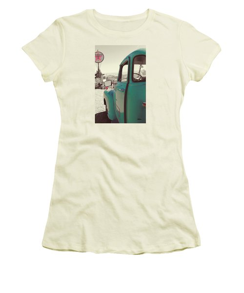 Women's T-Shirt (Junior Cut) featuring the photograph Techatticup Mine Ghost Town Nv by Marti Green