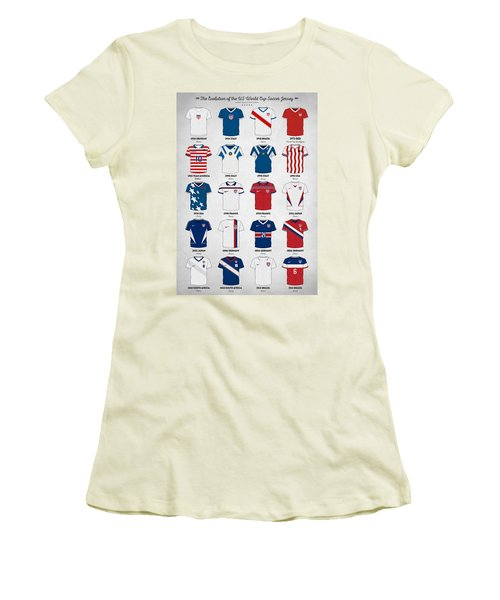 The Evolution Of The Us World Cup Soccer Jersey Women's T-Shirt (Athletic Fit)