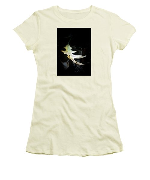 The Leaf Women's T-Shirt (Junior Cut) by Tim Good
