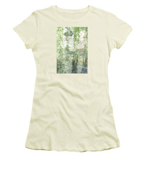 Women's T-Shirt (Junior Cut) featuring the photograph Through The Willows by Linda Geiger