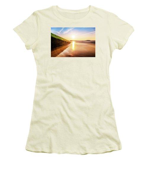 Touching The Golden Cloud Women's T-Shirt (Junior Cut) by Thierry Bouriat