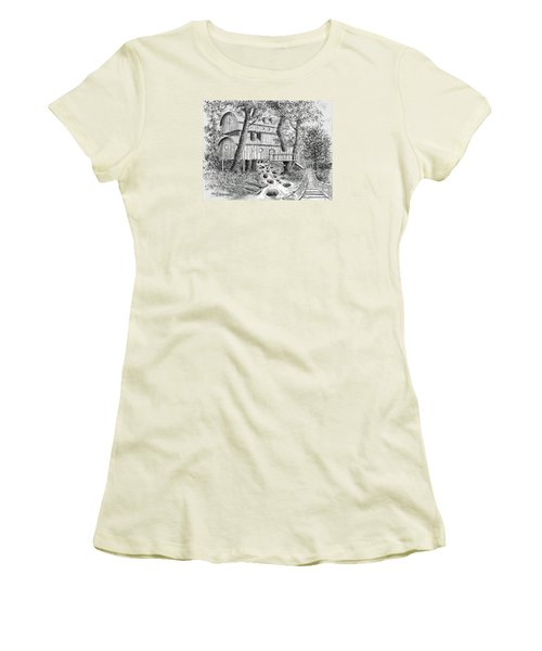 Tree House #5 Women's T-Shirt (Junior Cut) by Jim Hubbard