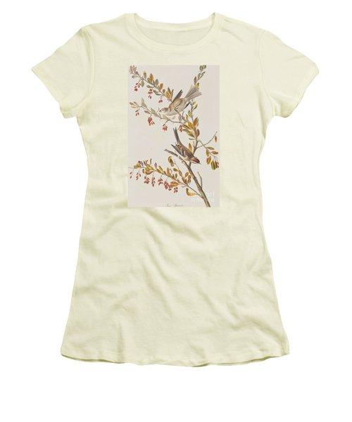 Tree Sparrow Women's T-Shirt (Junior Cut) by John James Audubon
