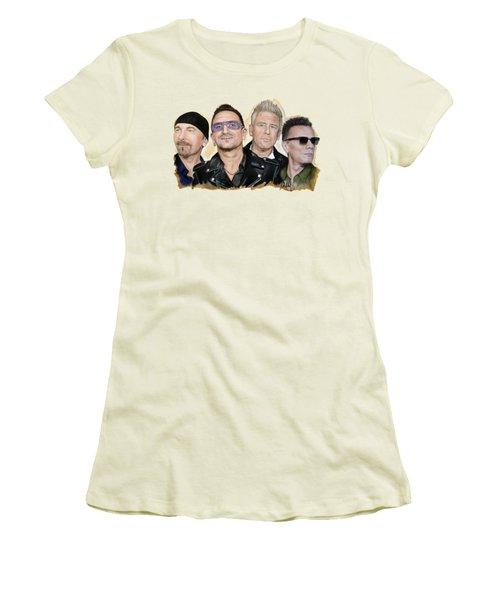 U2 Band Women's T-Shirt (Athletic Fit)