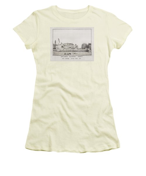 Walmer Castle Kent Women's T-Shirt (Athletic Fit)