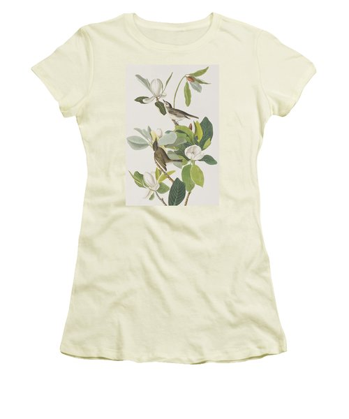 Warbling Flycatcher Women's T-Shirt (Athletic Fit)