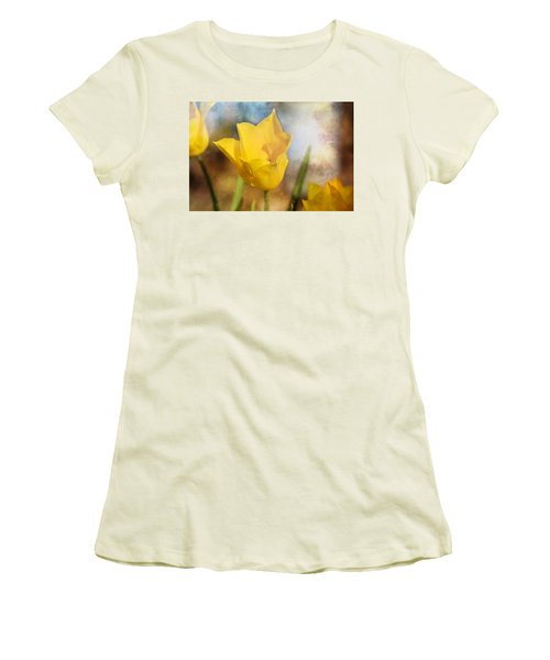 Water Lily Tulip Flower Women's T-Shirt (Athletic Fit)