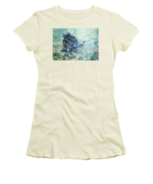 Watercolor Turtle Women's T-Shirt (Athletic Fit)
