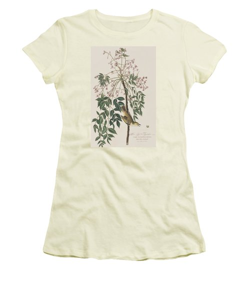 White-eyed Flycatcher Women's T-Shirt (Junior Cut) by John James Audubon