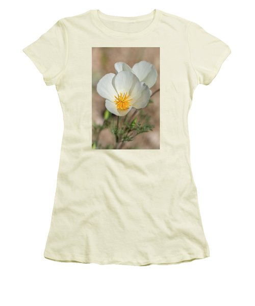 Women's T-Shirt (Junior Cut) featuring the photograph White Poppies  by Saija Lehtonen