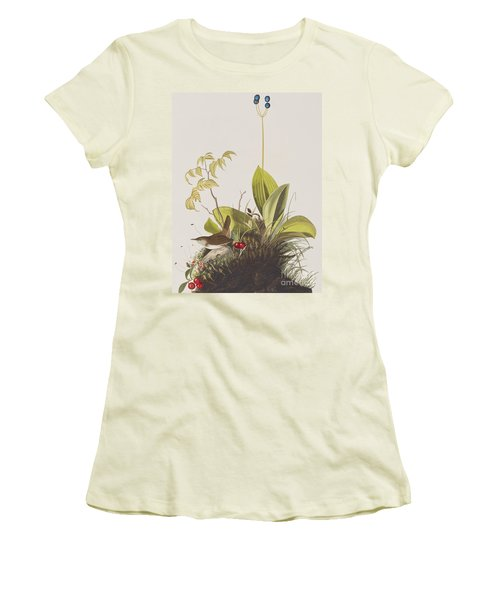 Wood Wren Women's T-Shirt (Junior Cut) by John James Audubon