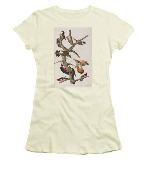 Woodpeckers Women's T-Shirt (Athletic Fit)