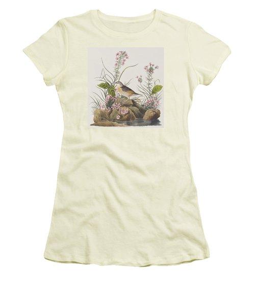Yellow-winged Sparrow Women's T-Shirt (Junior Cut) by John James Audubon