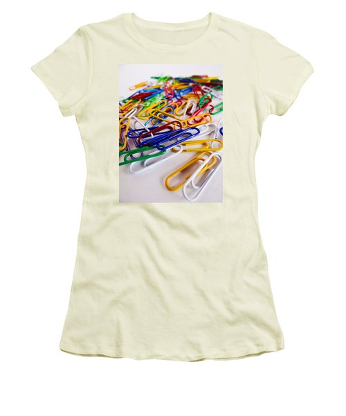 100 Paperclips Women's T-Shirt (Athletic Fit)