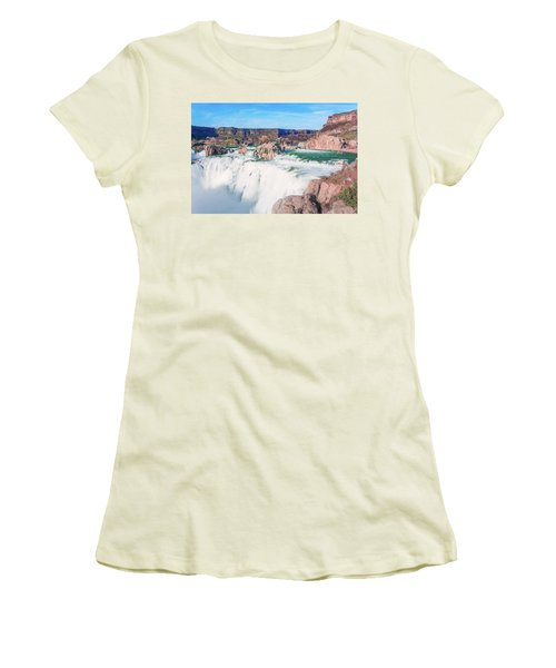 10917 Shoshone Falls Women's T-Shirt (Junior Cut) by Pamela Williams