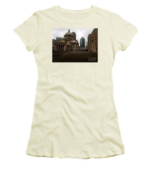 111 Huntington Ave Women's T-Shirt (Junior Cut) by KD Johnson