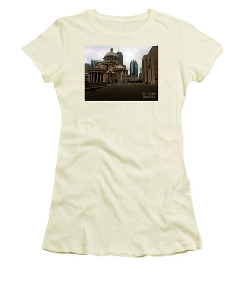 111 Huntington Ave Women's T-Shirt (Athletic Fit)