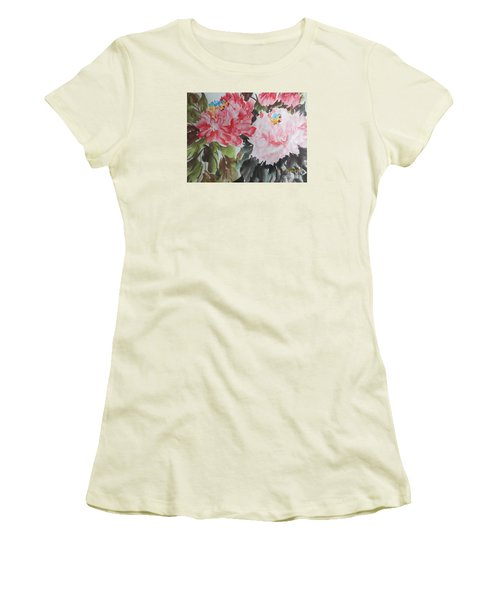 Women's T-Shirt (Junior Cut) featuring the painting 11192015-0756 by Dongling Sun