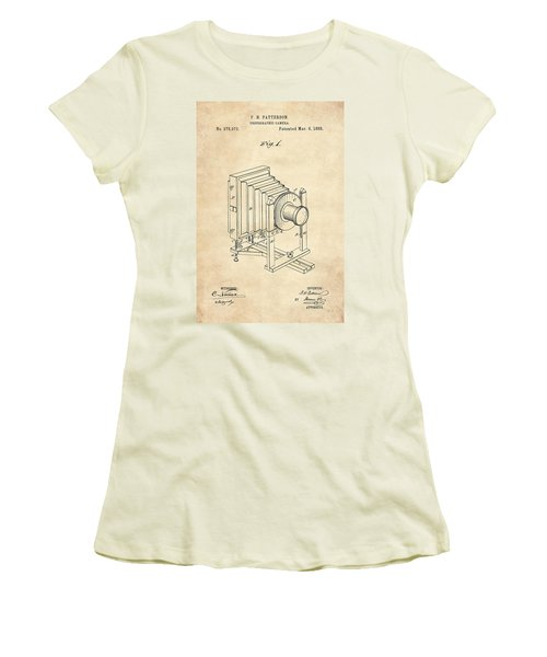 1888 Camera Us Patent Invention Drawing - Vintage Tan Women's T-Shirt (Athletic Fit)
