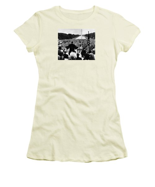 Martin Luther King Jr Women's T-Shirt (Junior Cut) by American School