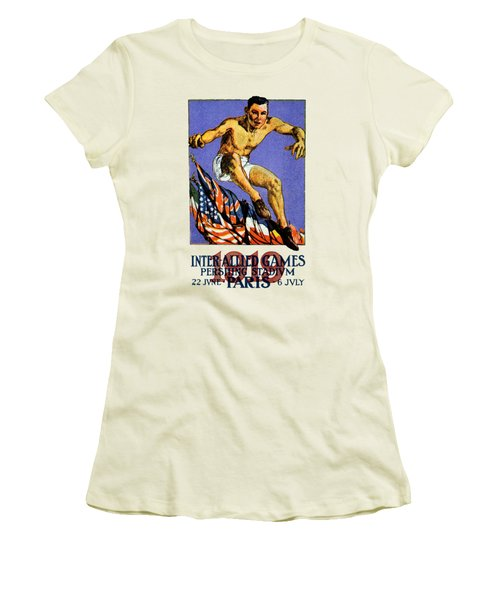 1919 Allied Games Poster Women's T-Shirt (Athletic Fit)