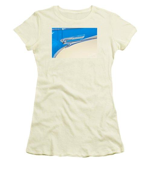 1941 Chevy Hood Ornament Women's T-Shirt (Junior Cut) by Aloha Art