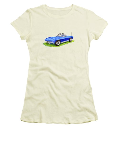 1964 Corvette Stingray Women's T-Shirt (Athletic Fit)