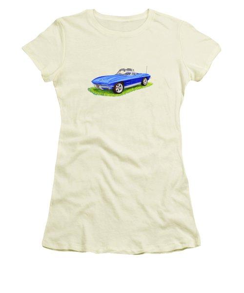 1964 Corvette Stingray Women's T-Shirt (Junior Cut) by Jack Pumphrey