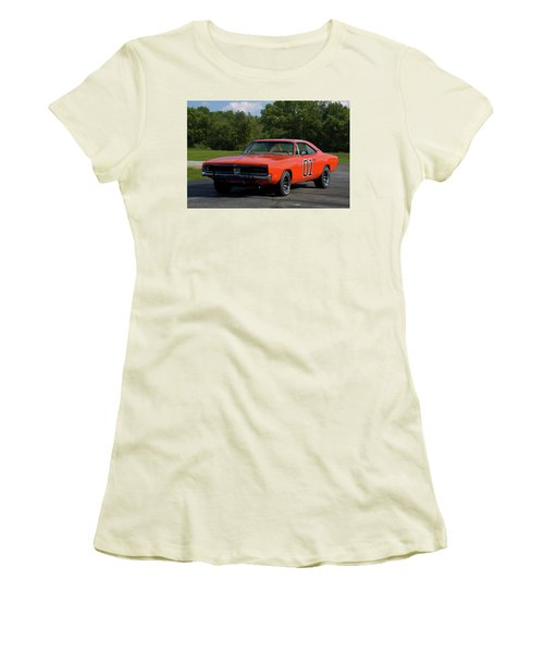 1969 Dodge Charger Rt Women's T-Shirt (Athletic Fit)
