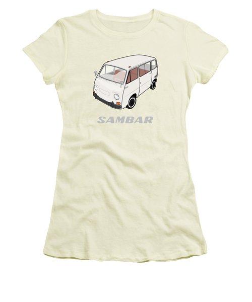 1970 Subaru Sambar Van Women's T-Shirt (Athletic Fit)
