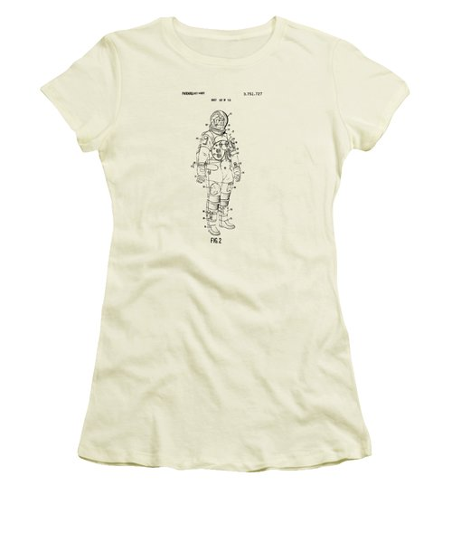 1973 Astronaut Space Suit Patent Artwork - Vintage Women's T-Shirt (Junior Cut) by Nikki Marie Smith