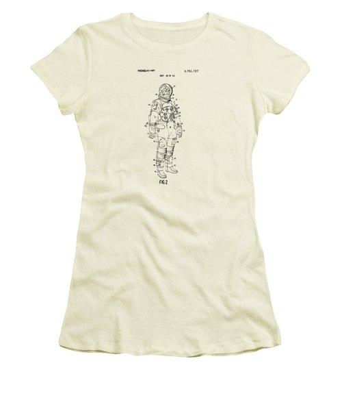 1973 Astronaut Space Suit Patent Artwork - Vintage Women's T-Shirt (Junior Cut) by Nikki Marie Smith